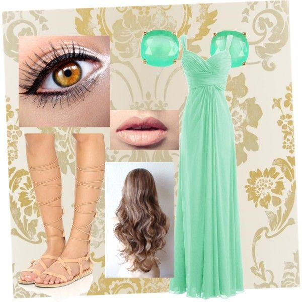 Dinner by demy14love on Polyvore featuring polyvore fashion style Ancient Greek Sandals Kate Spade Easy Spirit