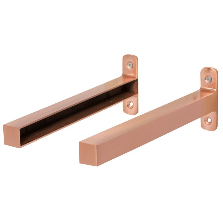 Form Brushed Copper Effect Shelf Brackets (D)235mm | Departments | DIY at…