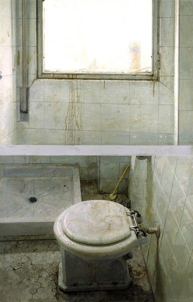 A grungy view of Toilet and Window celebrates the ordinary, 1968-71. Coleccion Masaveu. Francisco Fernandez, Unidad Movil photo