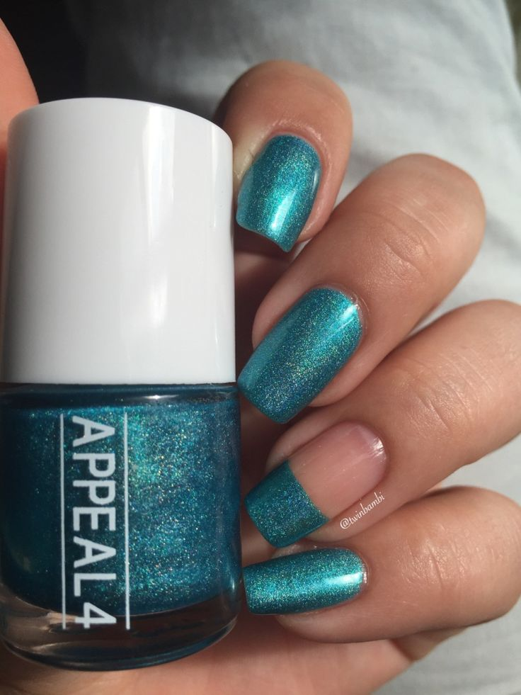@appeal4 Caribbean Blue Shattered holo.  Bought from @luxbeauty0253