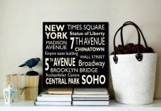 Love this New York canvas word art, bespoke art, custom art canvas, Personalised gifts www.beyondaword.com.au