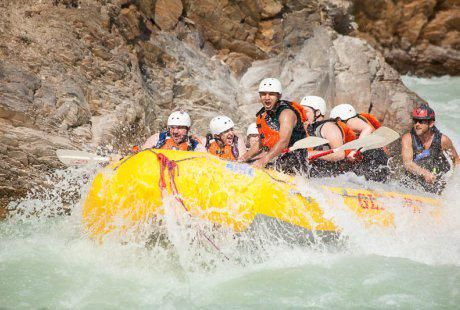 Rafting the Kicking Horse River is one of the most popular summer activities in Golden, BC