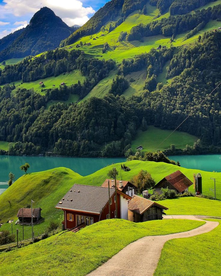 """Obwald, Switzerland. Green is the prime color of the world, and that from which its loveliness arises... Obwald -…"""""""