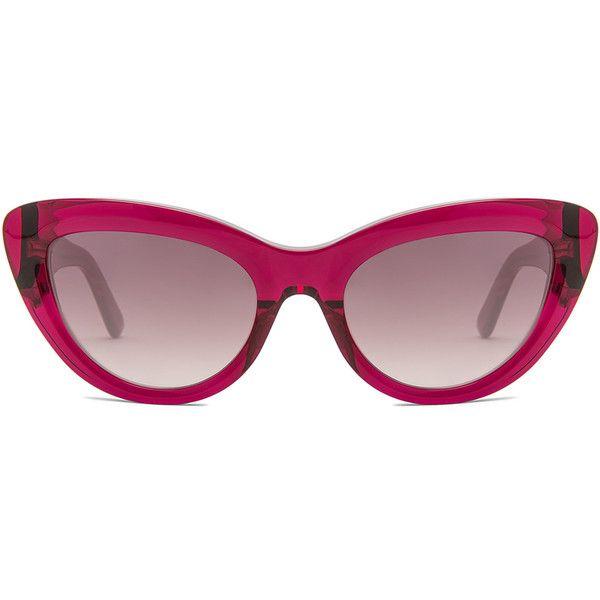 Balenciaga Cat Eye Sunglasses ($375) ❤ liked on Polyvore featuring accessories, eyewear, sunglasses, cat eye sunnies, balenciaga sunglasses, uv protection sunglasses, cat-eye glasses and cateye sunglasses