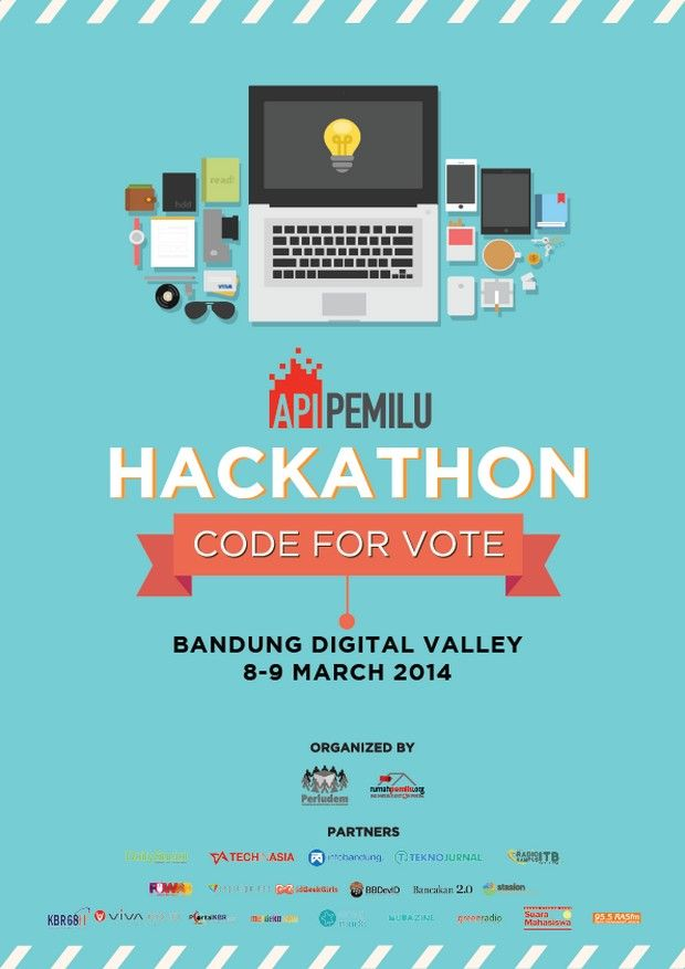 Api pemilu hackathon telah memanggil kita segitiga net for What is the best poster website
