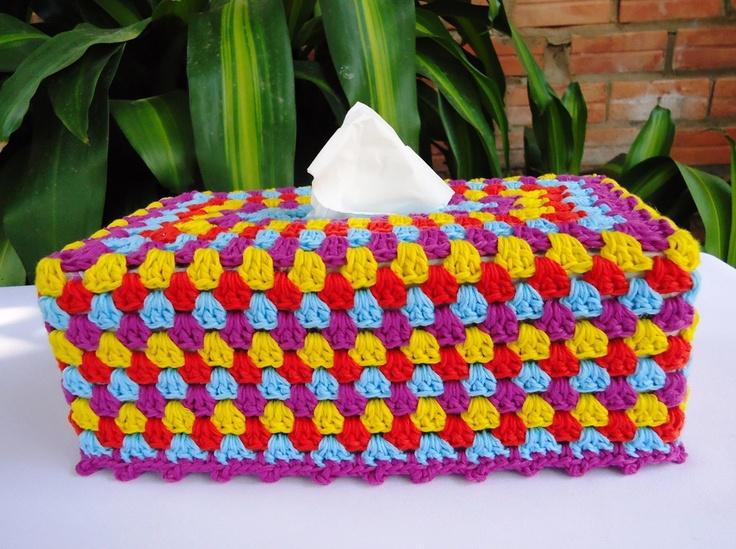 Crochet granny tissue box cover: Crochet Ideas, Crochet Granny, Tissue Boxes Covers, Crochet Projects, Cheer Tissue, Crochet Tissue, Crochet Krazi Covers Tissue, Crochet Patterns, Beautiful Crochet