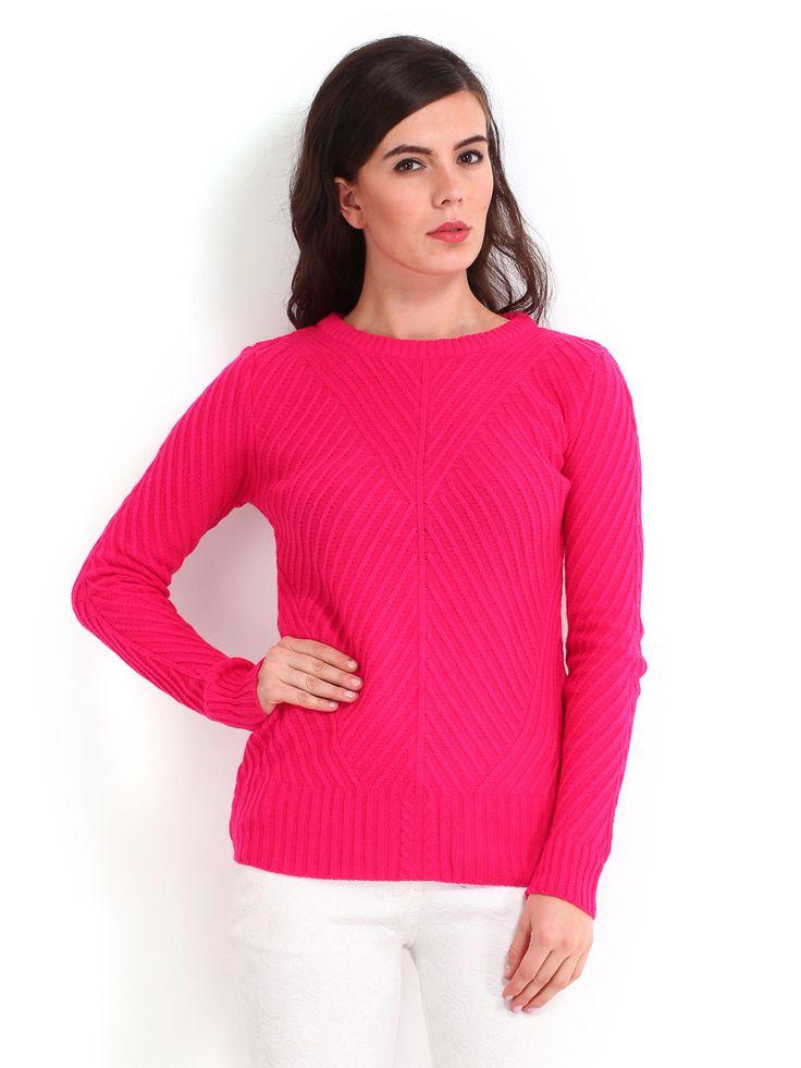 Elle-Women-Pink-Sweater-2