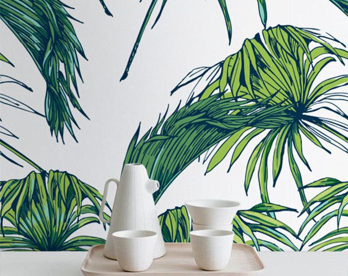Transformez nimporte quelle pièce de votre maison en un paradis hawaïen avec ce papier peint adhésif ! Cette caractéristiques du papier peint vinyle une impression lumineuse et tropicale exotique vert feuilles Stickers muraux, partout un fond blanc. Un coup doeil à ce papier peint adhésif et tu pensera que tu es un paradis tropical !  ➢ TAILLE  Vous avez la possibilité de deux tailles pour la décoration de votre chambre exotique personnel : Petit : 20,9 pouces de largeur par 48 pouces de…