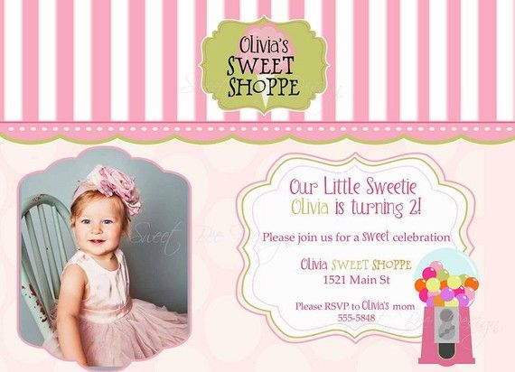 Sweet Shoppe Birthday Invitation by SweetBeeDesignShoppe