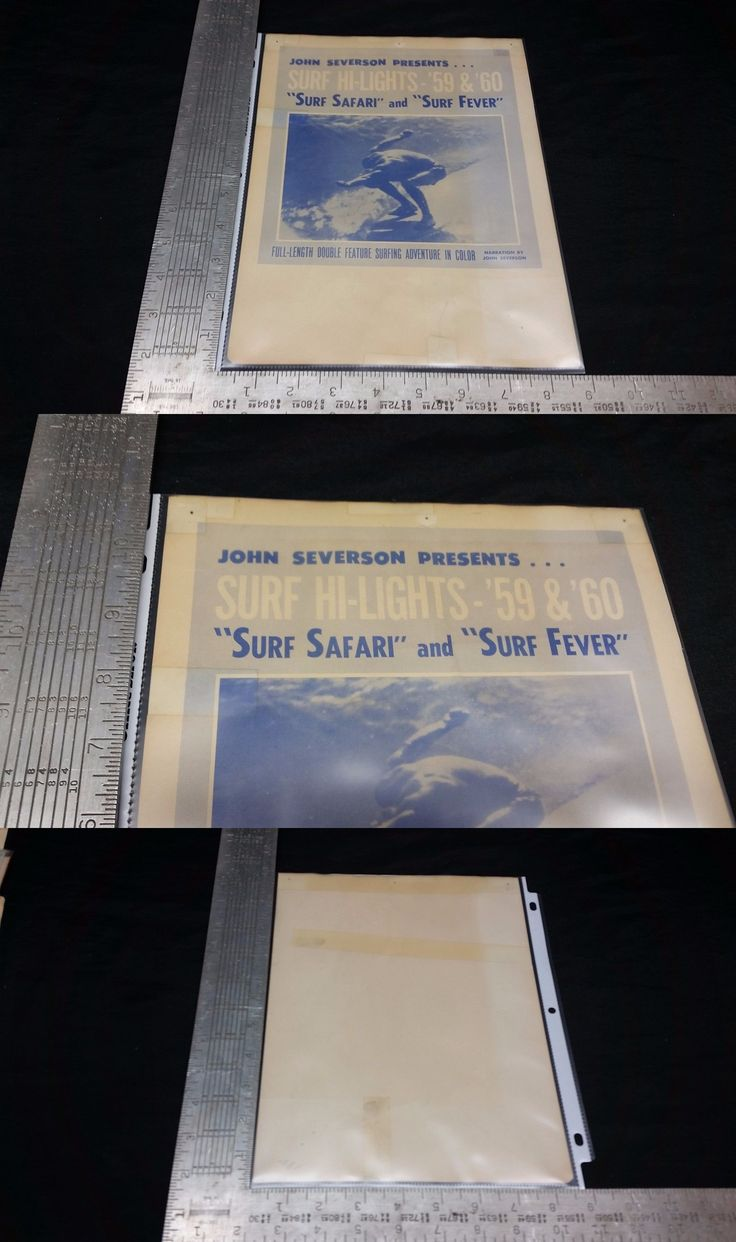 Surfboards 22710: Original 1959 60 Surf Movie Poster - Surf Fever + Surf Safari - John Severson -> BUY IT NOW ONLY: $95 on eBay!