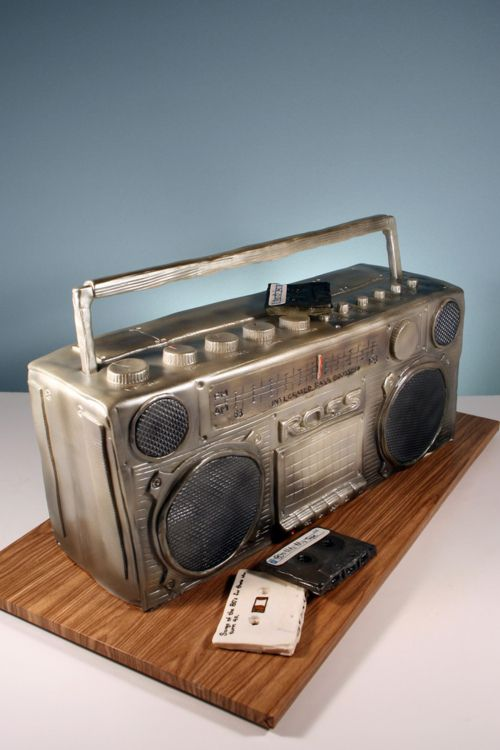 cakeapothecary:    80's Boombox Birthday Cake (by marksl110)