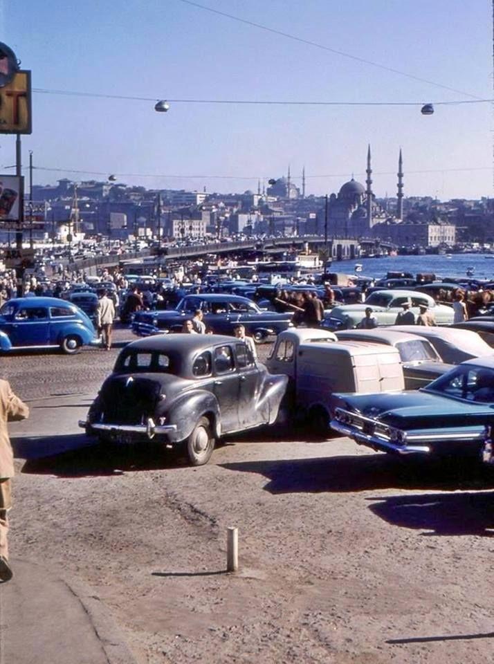 Karaköy'den Eski Galata Köprüsü ve Eminönü'ne  bakış (1960'lı yıllar) #istanbul