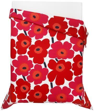 Unikko red Full/Queen Comforter at Marimekko Mebourne (Shop 3, 576 Chapel Street)