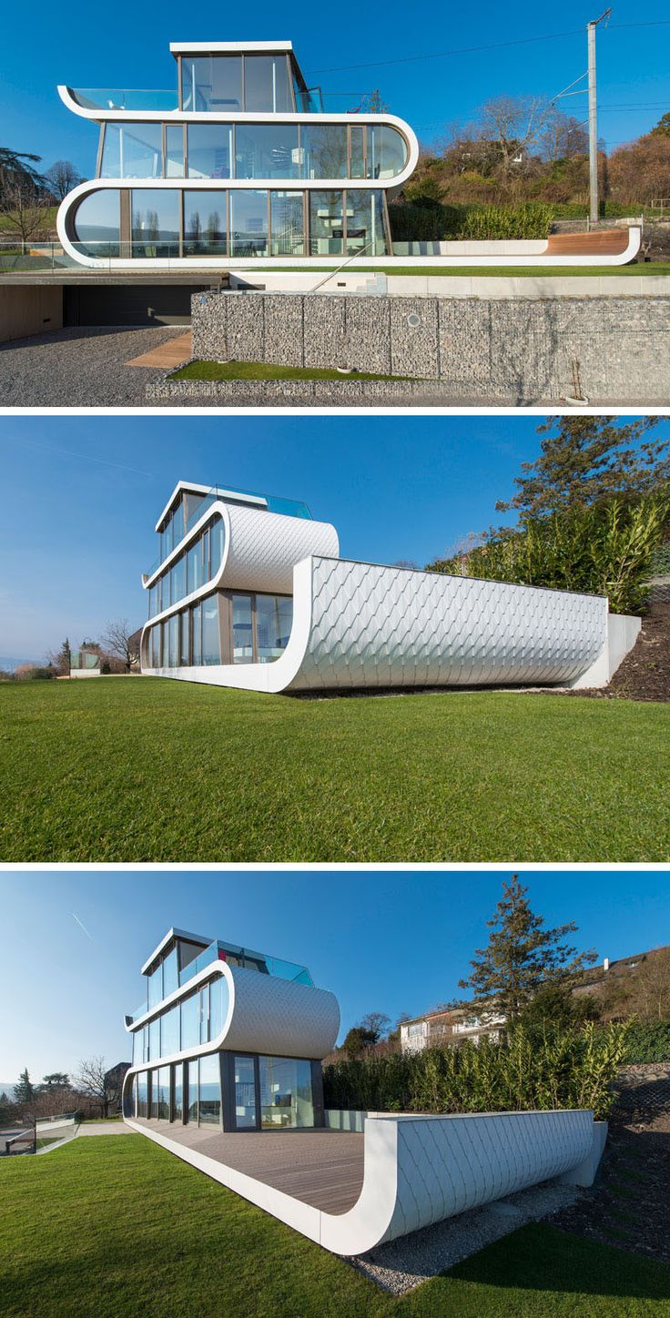 108 best design elements images on pinterest architecture a white ribbon winds its way through this house in switzerland designed by evolution design