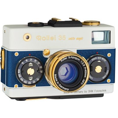 Rollei 35 white magic blue gold