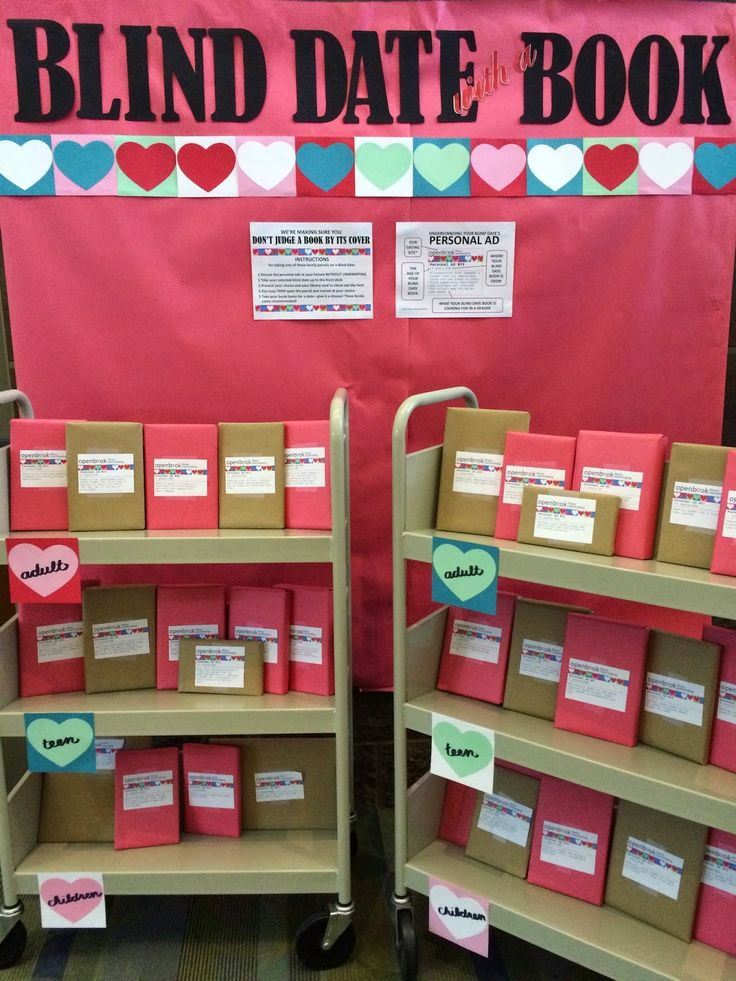 Literary Hoots: Library Display: Blind Date with a Book