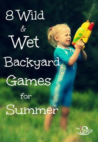 "8 Awesome Water Games for Backyard Fun on Hot Days -- You'll never hear ""I'm Bored"" again!"
