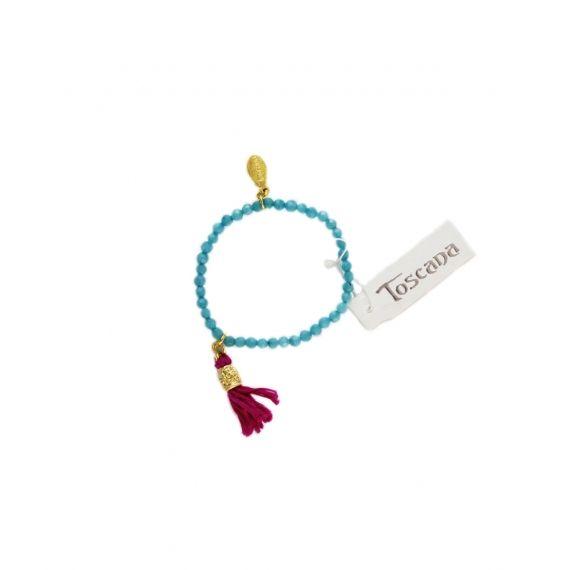 Toscana Beaded Tassel Bracelet- Aquarollover