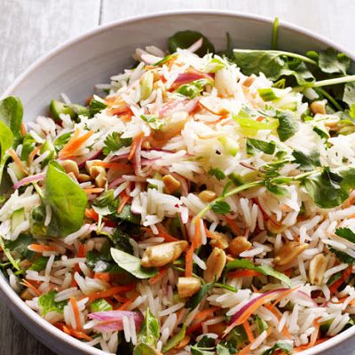 Lemon-Herb Rice Salad - gotta try this, sounds perfect for a summer barbeque.