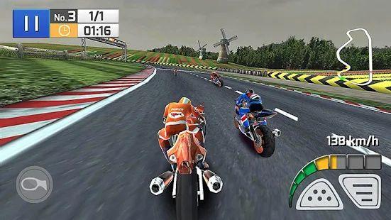 Una vera gara di moto 3D- miniatura screenshot