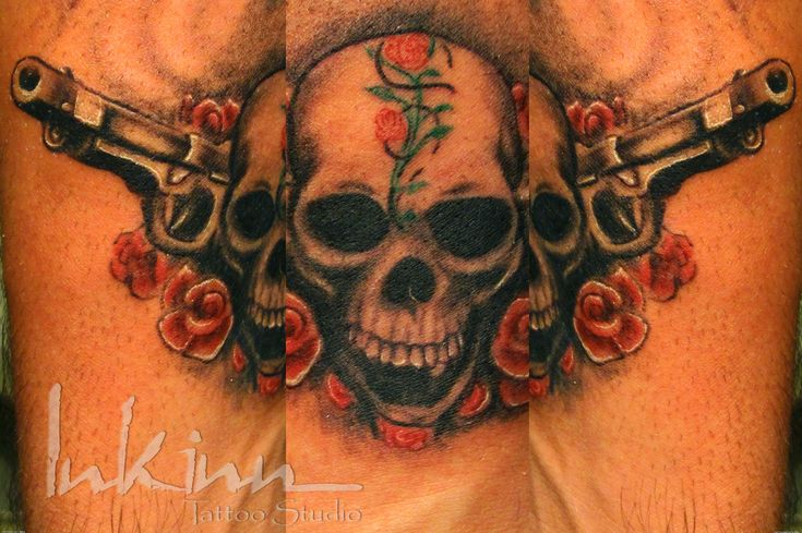 Skulls And Guns Tattoos: 30 Best Ak-47 Rose Tattoos For Men Images On Pinterest