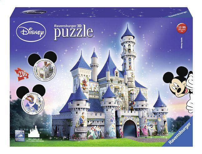 De 3D-puzzel van het Disney-kasteel is voor iedereen die gek is van de Disney en van puzzelen. Herken jij alle personages op het kasteel?
