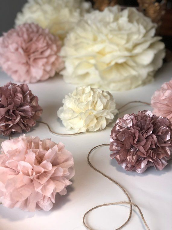 Baby Shower Decorations Tissue Paper Pom Garland Rose Gold Baby Shower Decorations Girl Tissue Paper Poms Tissue Poms Rustic Baby Shower With Images Gold Baby Shower Decorations Rose Gold Baby Shower Girl Baby Shower Decorations