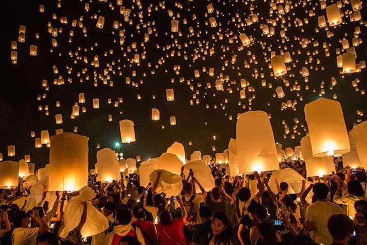 No creerás éste mágico festival de luces en Tailandia
