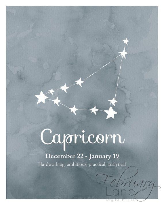 Capricorn Zodiac Constellation 8x10 Instant por FebruaryLane