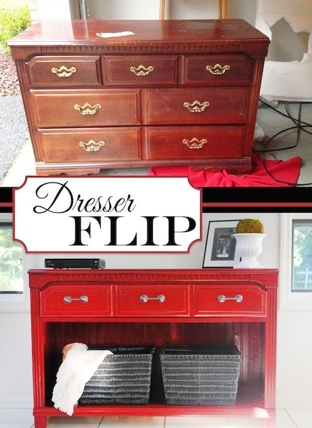 Diy furniture hacks dresser flip cool ideas for creative do it yourself furniture made from - Do it yourself furniture ideas ...