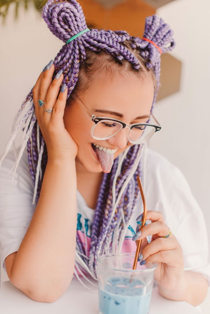 Box Braids Hairstyle For White Girl In 2020 White Girl