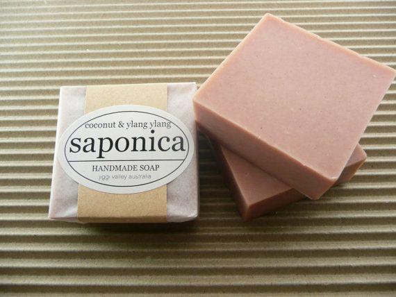 Handmade Natural Coconut and Ylang Ylang Soap by by saponica, $6.50
