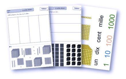 Le système décimal avec les perles dorées