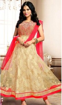 #French #Beige Color #Net #Fabric #Ladies #Readymade Suit with #Dupatta   FH450970741 #anarkali , #salwar , #kameez , #dresses , #suits , #designer , #colors , #pinterest , #Shopping , #fashion , #boutique , #online , #heenastyle , #indian , #style , @heenastyle , #churidar , #likes , #abaya , #pakistani, #clothing , #womens , #mens , #kids , #boys , #girls