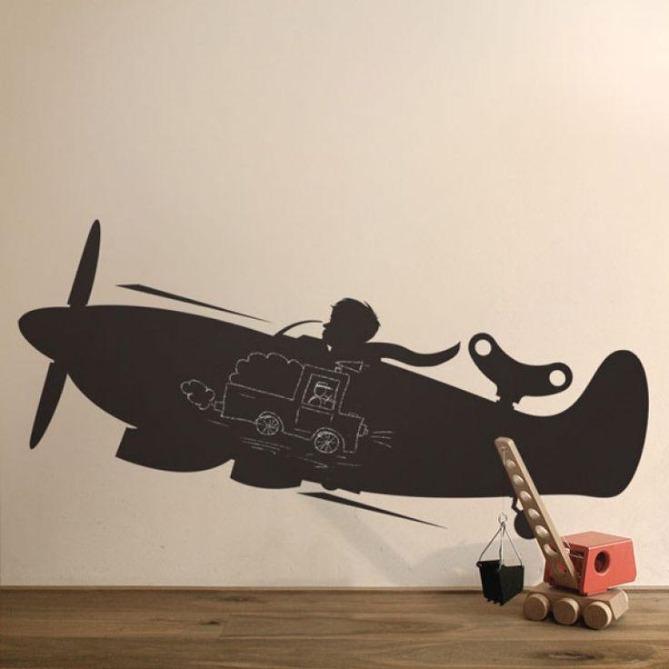 KEK Amsterdam Toys for Boys: Airplane muursticker | FLINDERS verzendt gratis