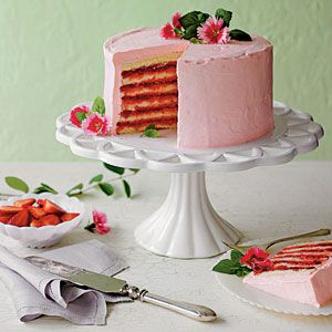 Strawberries and Cream Cake | MyRecipes.com