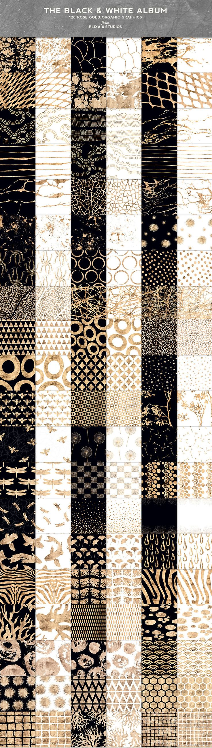 Elegant Metallic Patterns To Add Depth To Your Designs With For this golden box of black and white graphic goodness, I've gathered together some of my most beloved rose gold marble, coral, mineral, animal and organic geometric patterns placed them on pure white and rich black backgrounds. When I say white, I mean flat snow ... read more