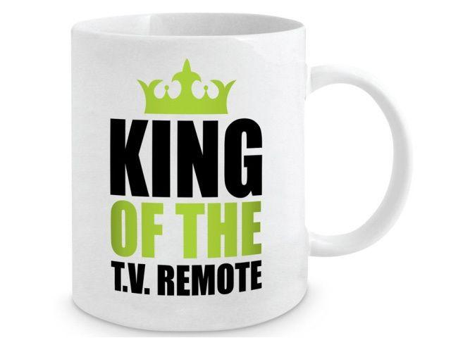 King of the TV Remote - Mug  #fathersdaygifts #giftsformen #giftsfordads