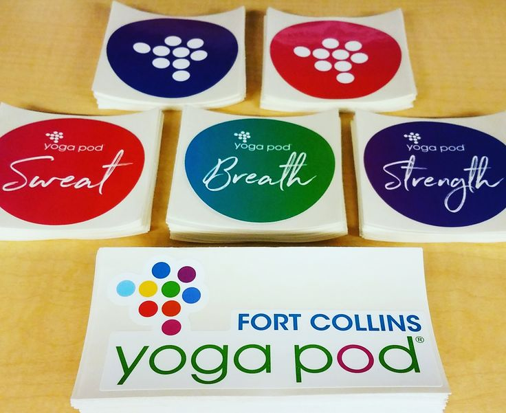 Custom yoga stickers
