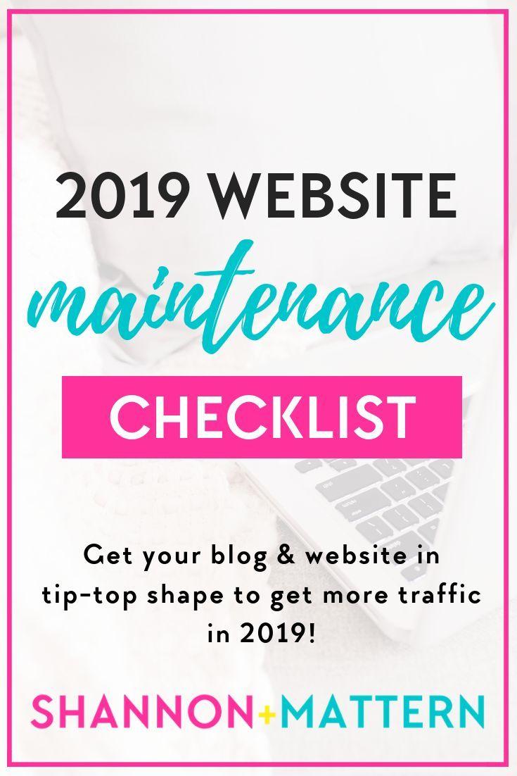 Steal My 2019 Website Checklist Website Checklist Website Maintenance Blog Resources