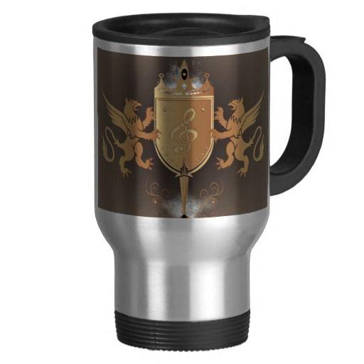 #Clef with shield #mugs
