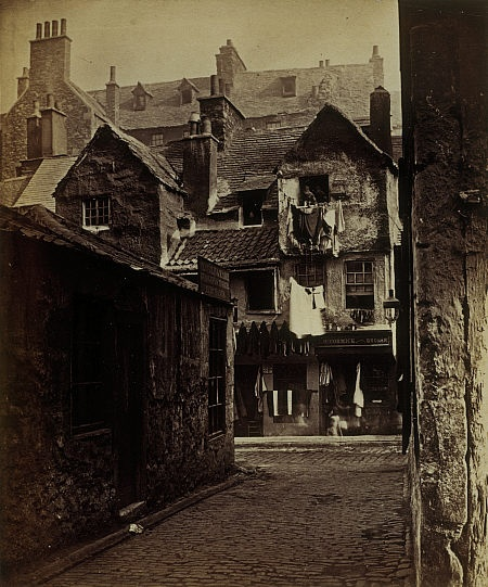 'Timber Fronted House, Cowgate', Edinburgh 1858
