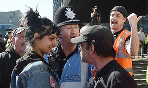 The photo of Saffiyah Khan confronting the EDL supporter was retweeted by MPs and celebrities such as Piers Morgan.