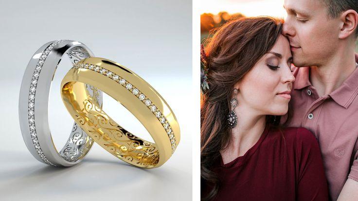 Argollas en oro 14K con zirconias o con diamantes, #argollasdematrimonio #oro #oroblanco #oro14K #weddingrings #anillodecompromiso #diamante #anillosdeboda