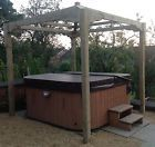 22mx22m WOODEN GAZEBO PERGOLA WOOD POND COVER HOT TUB COVER AVIARY FRAME