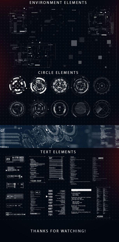Sci-fi interface HUD on Behance