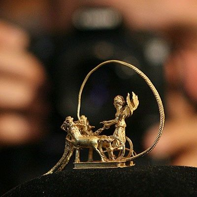 - Romanian History and Culture gold  horseman  jewelry