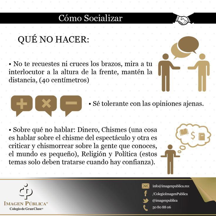 Te compartimos la segunda parte de los Imagotips sobre Cómo Socializar · QUÉ NO HACER.