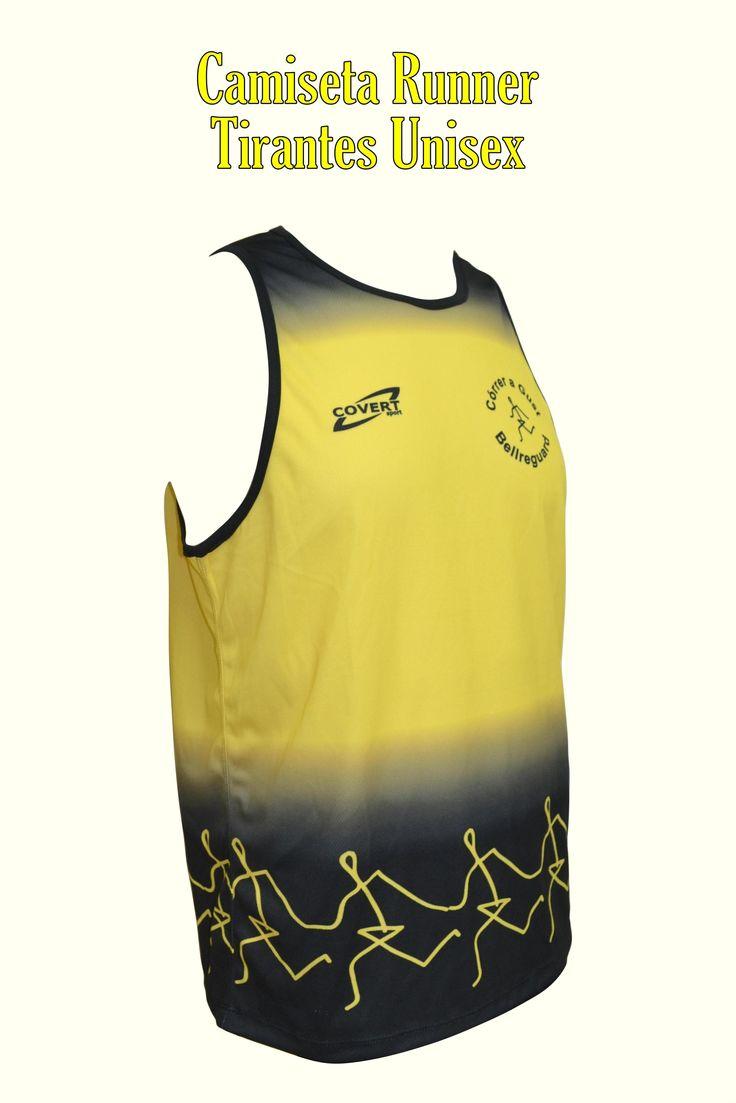 Covert Sport - Ropa Deportiva Personalizada Runner -  Equipaciones Córrer a Gust - Bellreguard - Camiseta Runner Tirantes Unisex