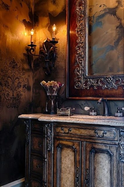 Two Toned Cabinets For Kitchen And Bathroom Bathroom Remodel Pinterest Old World Search